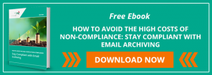 How To Avoid The High Costs Of Non Compliance Stay Compliant with Email Archiving cta