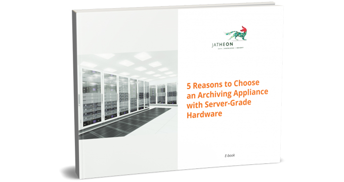 5 Reasons to Choose an Archiving Appliance with Server-Grade Hardware cover