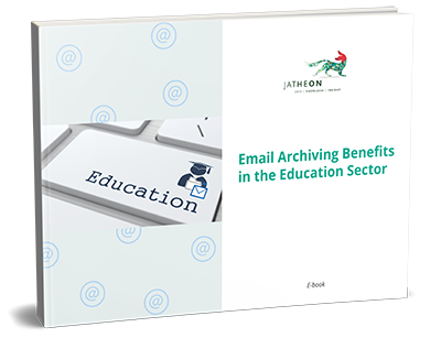 Email Archiving Benefits in the Education Sector eBook cover