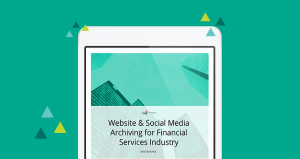 Website Social Media Archiving for Financial Services Industry