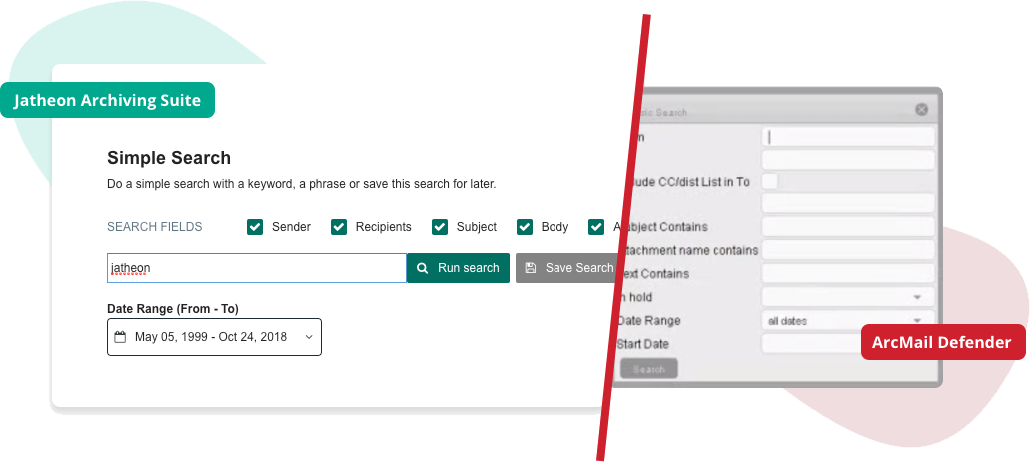 Jatheon vs ArcMail Simple Search
