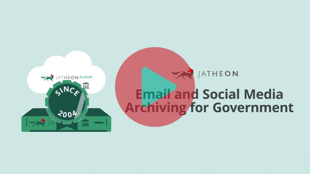 Email and Social Media Archiving for Government Video