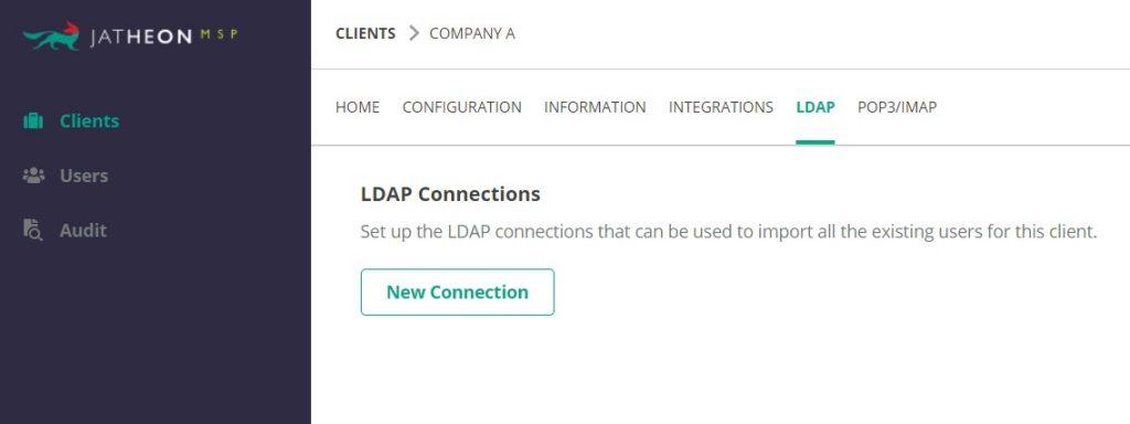 Jatheon Cloud - MSPs (LDAP and POP3 IMAP)