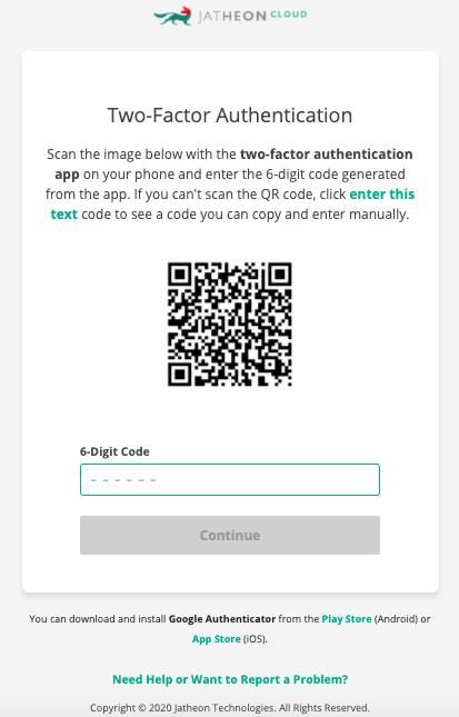Jatheon Cloud 2FA QR Code