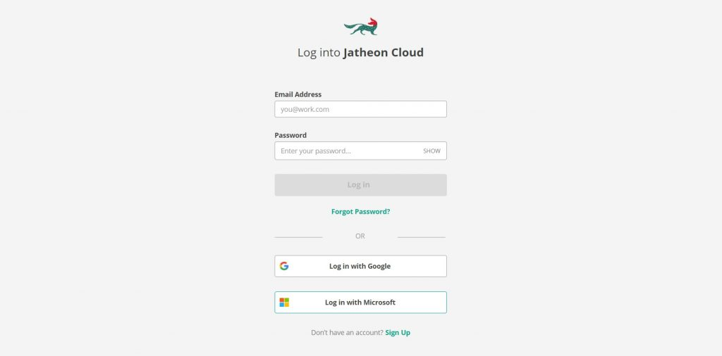 Jatheon Cloud - Microsoft Single Sign On