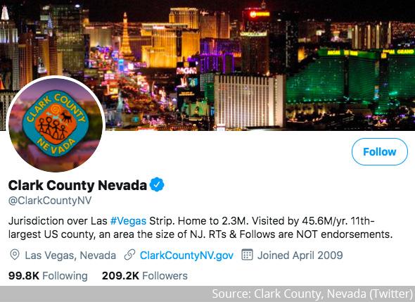 Clark County, Nevada - Twitter profile