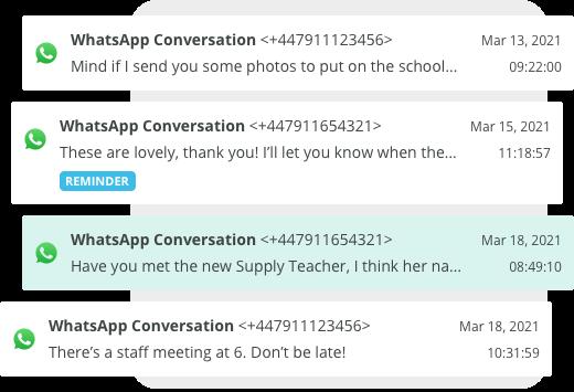 Whatsapp archiving