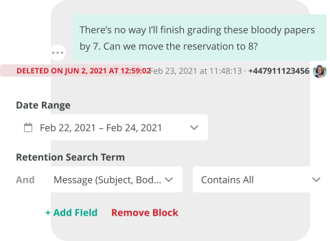 Automate deletion schedule
