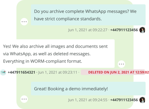 Archive WhatsApp to meet compliance with data retention regulations